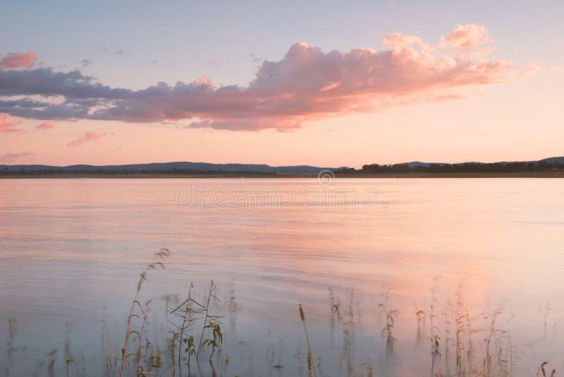 Lago Leslie nel Queensland immagine stock libera da diritti