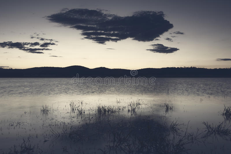 Lago Leslie nel Queensland immagini stock libere da diritti
