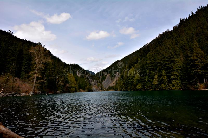 Lago Lindeman, Chilliwack Canada BC fotografie stock libere da diritti