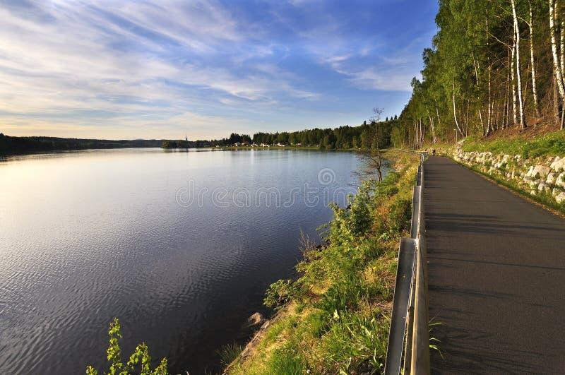 Lago Lipno fotografia stock libera da diritti