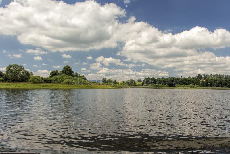 Lago Lipno in Boemia del sud, repubblica Ceca, Europa fotografia stock