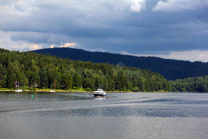 Lago Lipno, República Checa. fotografía de archivo libre de regalías