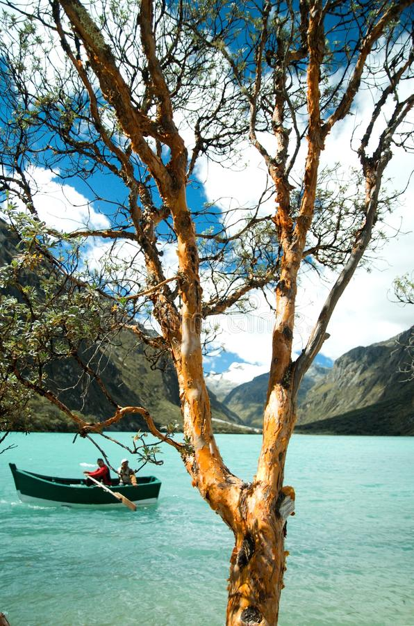 Lago Llanganuco (Chinancocha) imagem de stock royalty free