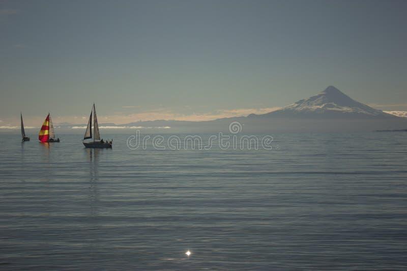 Lago Llanquihue foto de archivo