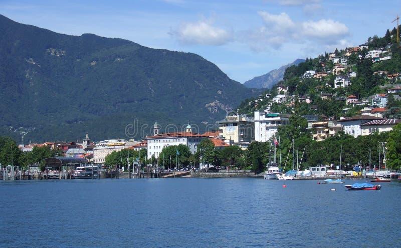Lago Locarno fotografia de stock