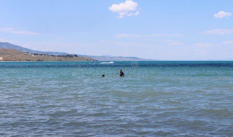 Lago Logan Utah bear de la diversión del verano fotografía de archivo