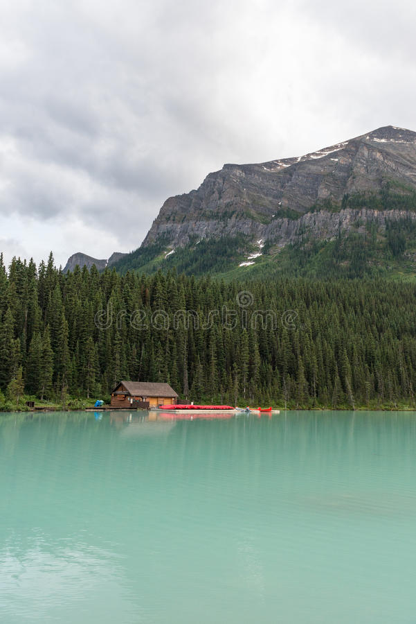 Lago Loiuse Alberta Canada fotografia stock