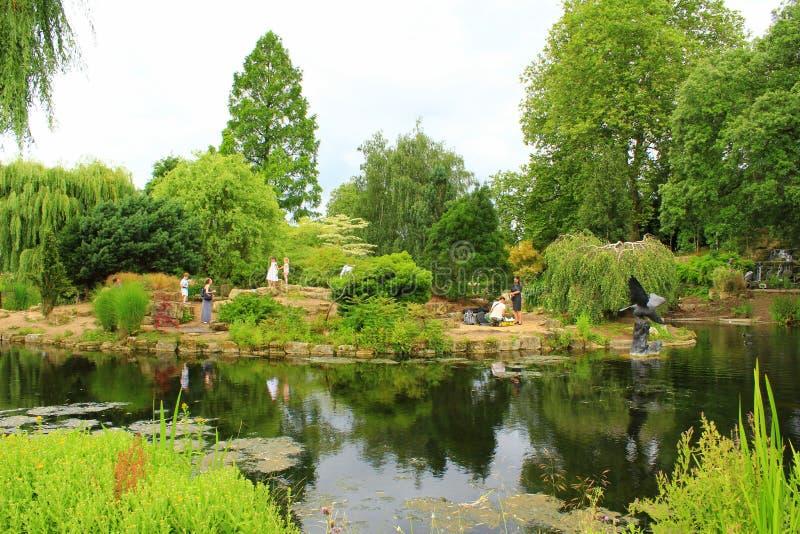 Lago Londres Inglaterra park de los regentes fotos de archivo libres de regalías