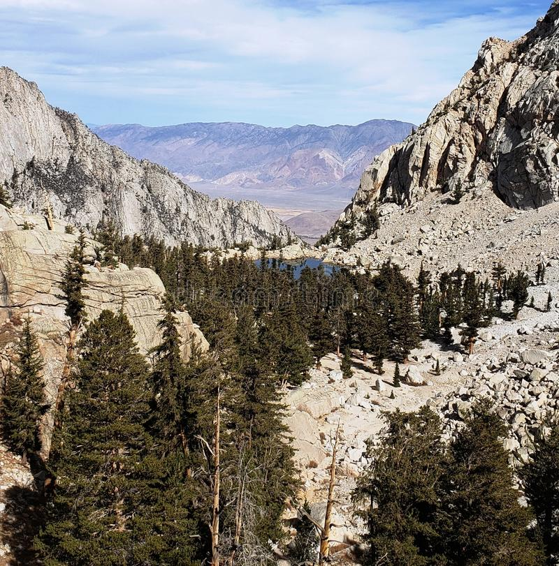 Lago Lone Pine foto de archivo
