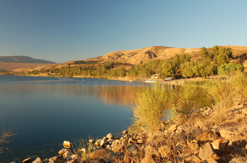 Lago Los Angeles California S.U.A. Castaic immagine stock