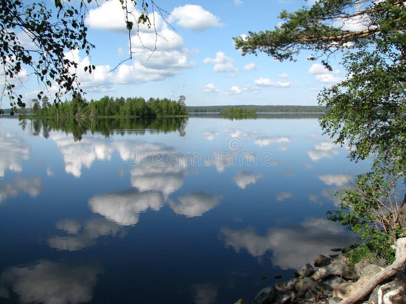 Lago Lososinnoe foto de stock