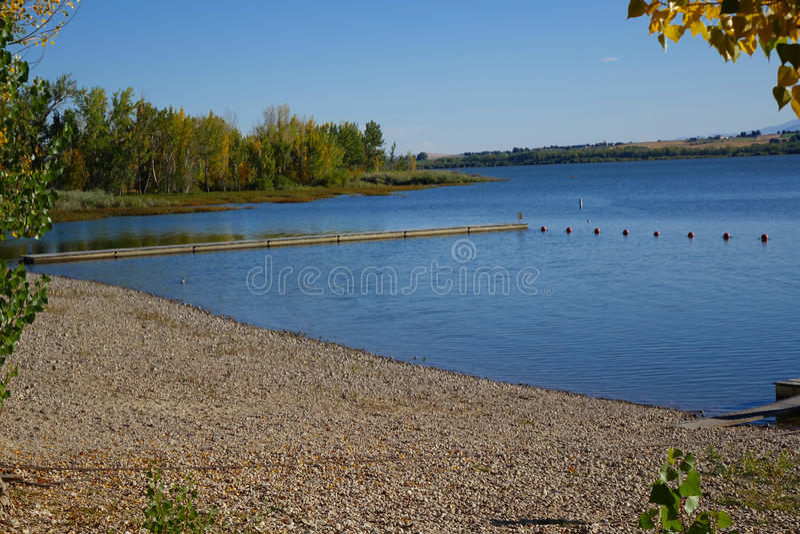 Lago Lowell - Idaho fotos de archivo
