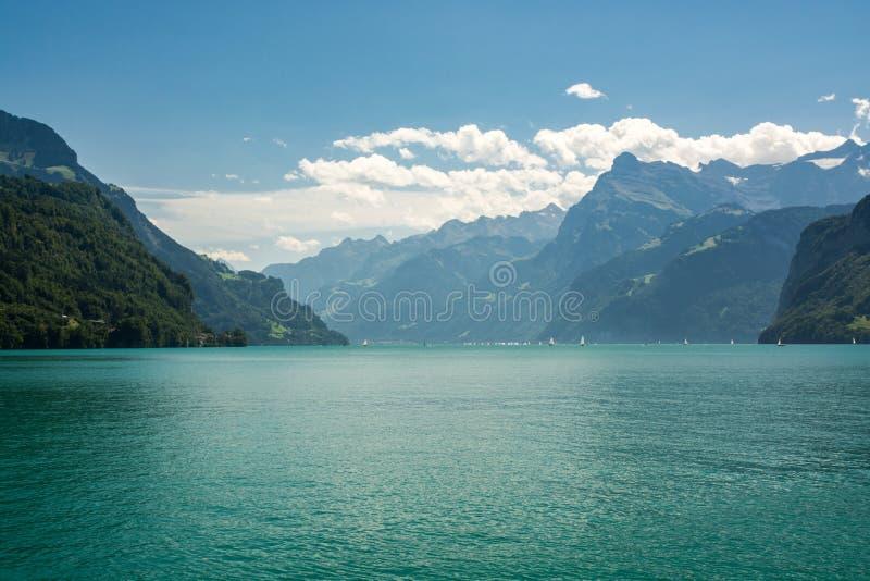 Lago Lucerne em Switzerland fotografia de stock royalty free