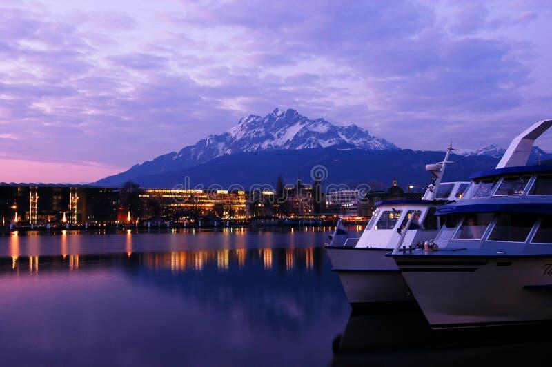Lago Lucerne, Switzerland fotografia de stock