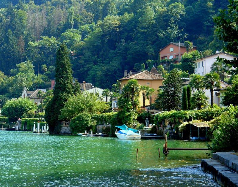 Lago Lugano fotografia stock