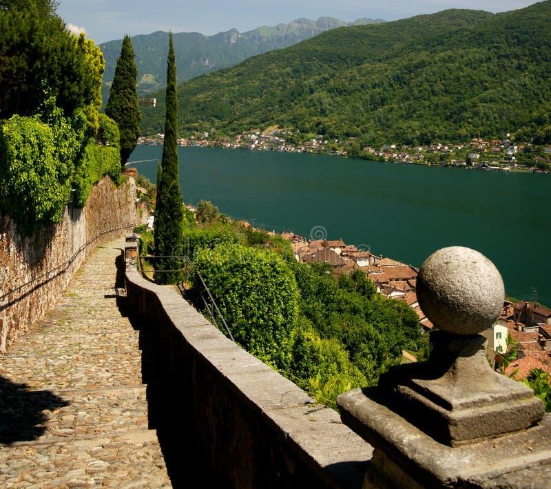 Lago Lugano fotos de stock