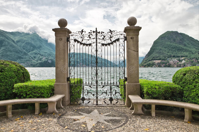 Lago Lugano. fotos de stock