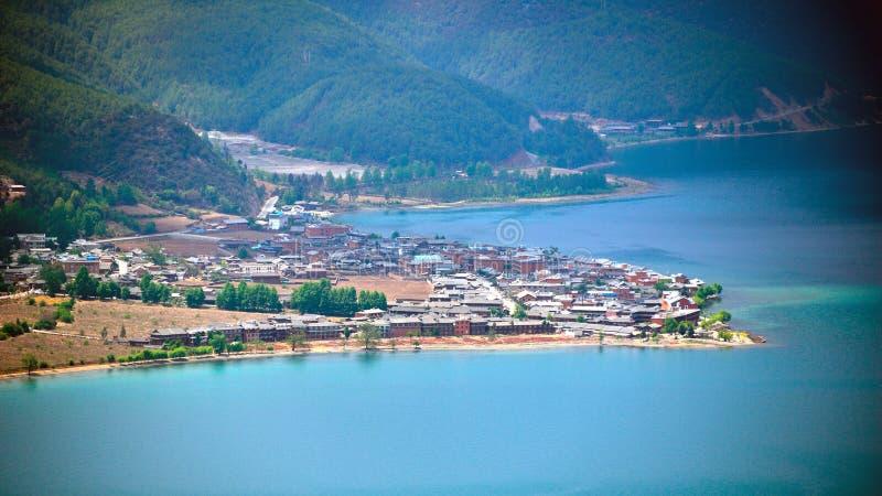 Lago Lugu, il regno delle donne fotografia stock libera da diritti