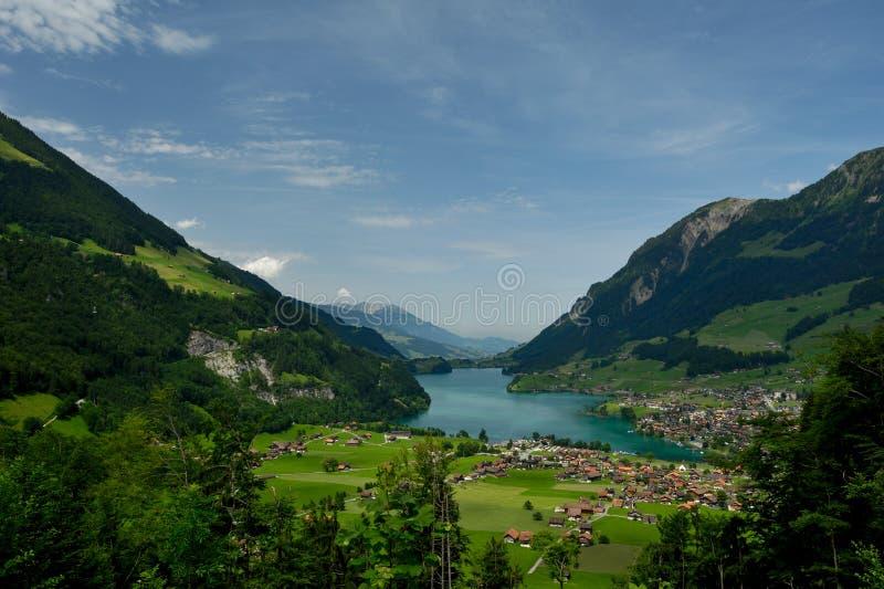 Lago Lungern foto de archivo