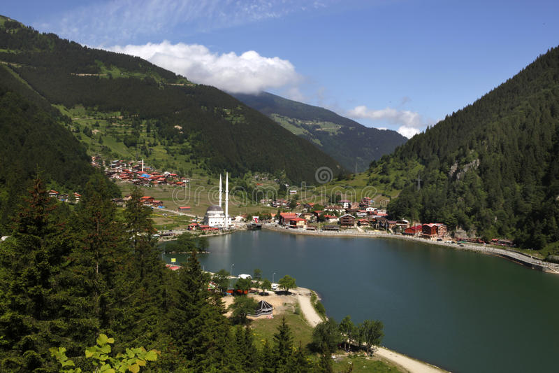 Lago lungo (Uzungol) fotografia stock libera da diritti