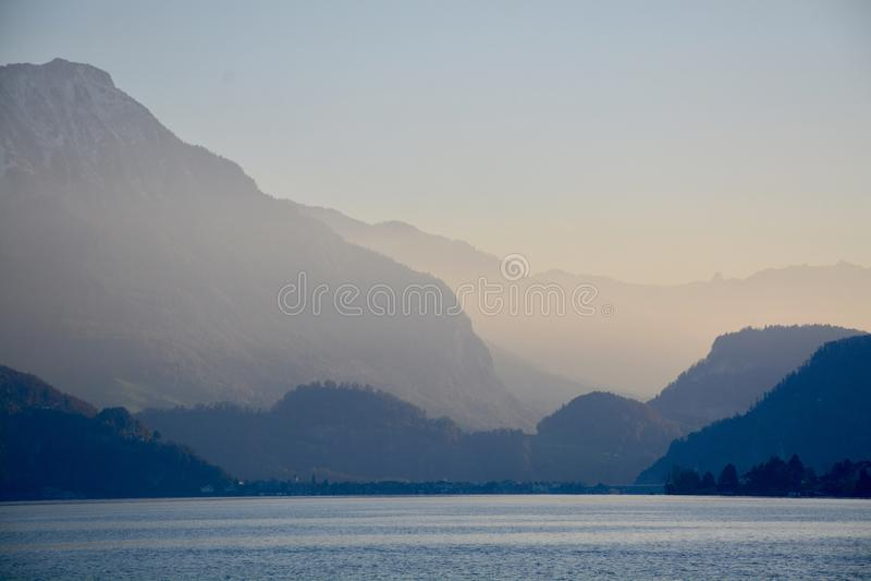 Lago luzern fotografie stock
