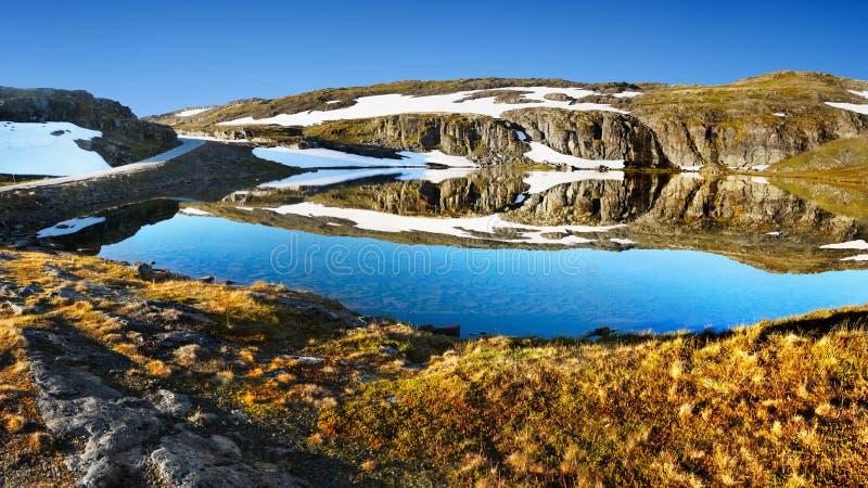 Lago mágico glacier, paisaje de la montaña del verano fotografía de archivo