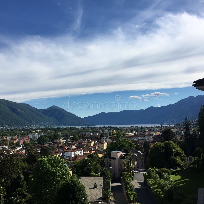 Lago Maggiore fotografering för bildbyråer