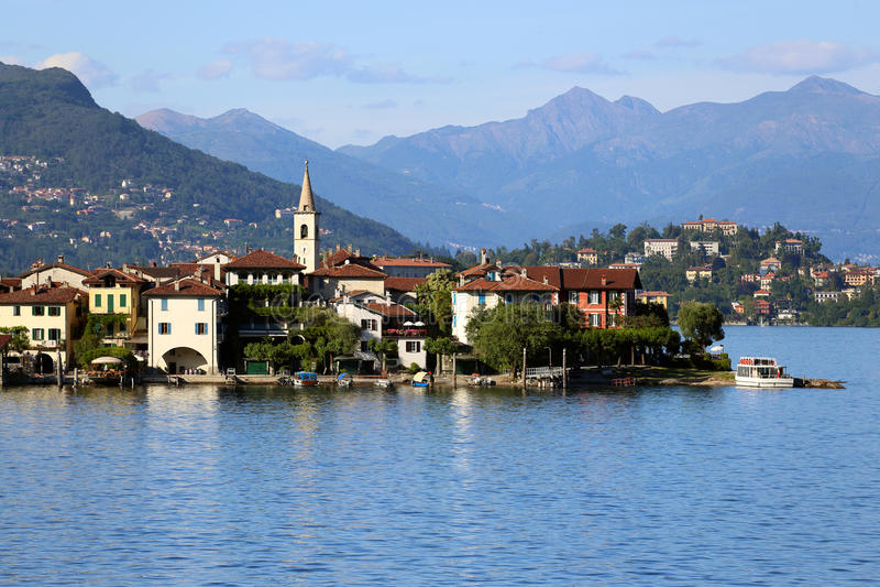 Lago Maggiore stock afbeelding