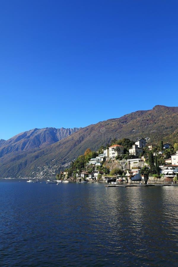 Lago Maggiore e Ascona fotografia de stock