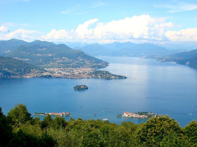 Lago Maggiore em Italy fotografia de stock royalty free