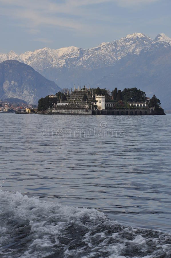 Lago Maggiore, Isola Bella in Winter royalty free stock images