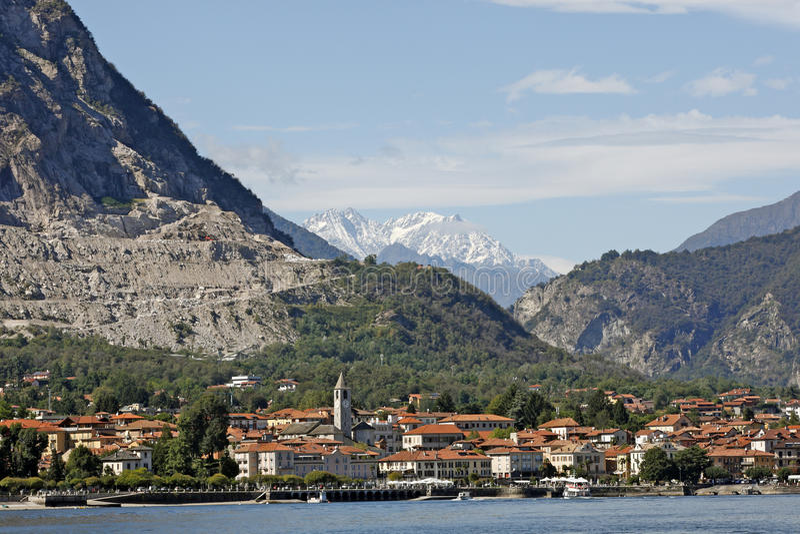 Lago Maggiore, Italië - Landschap rond het meer royalty-vrije stock foto's