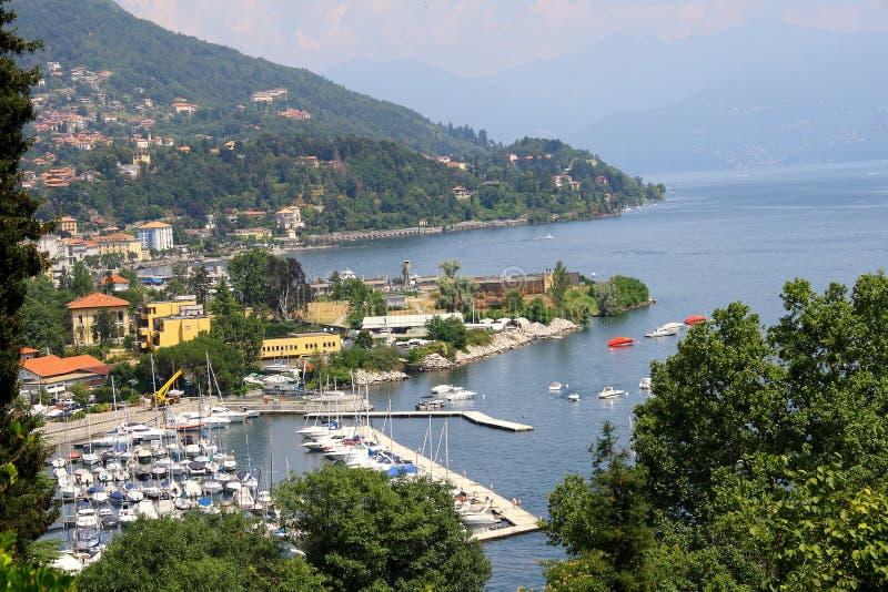 Lago Maggiore Verbania fotografia de stock royalty free