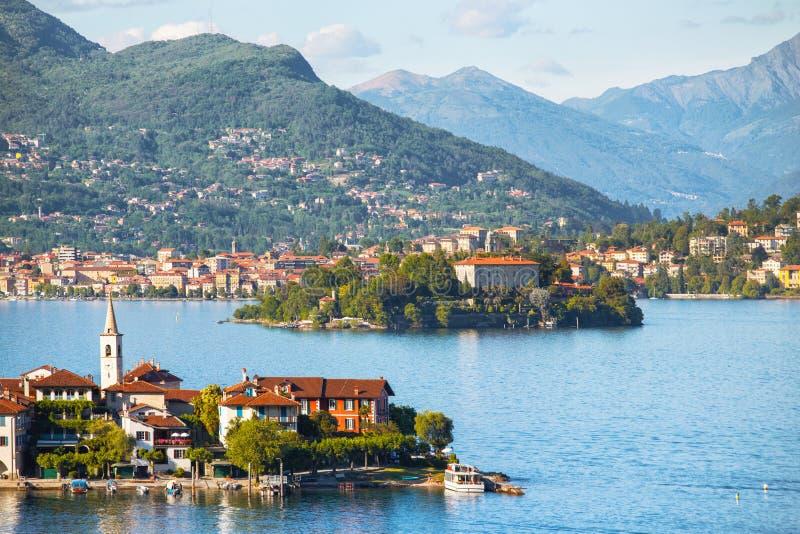 Lago Maggiore. View of Lago Maggiore, Italy royalty free stock images