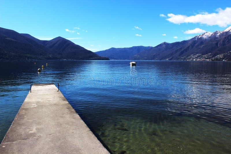 Lago Magiore in Italia fotografie stock