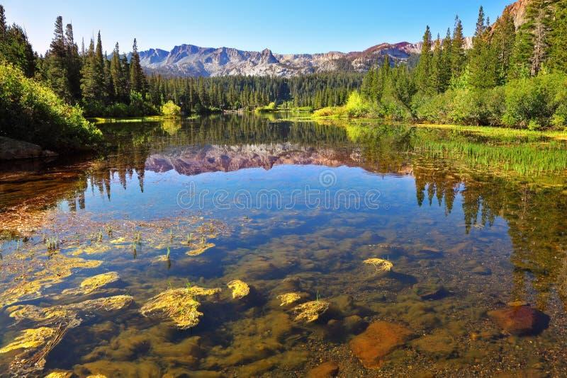 Lago magnífico en California fotos de archivo