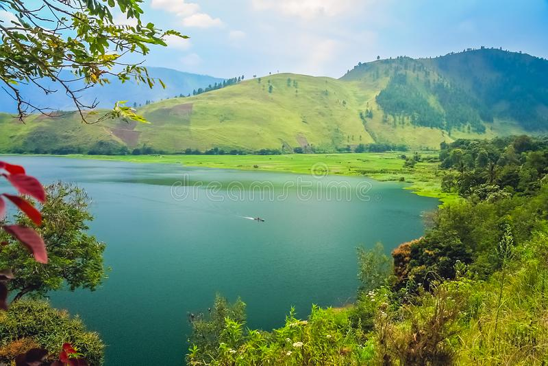 Lago magnífico Toba en Sumatra imagen de archivo libre de regalías