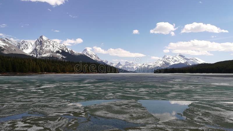 Lago Maligne fotos de archivo libres de regalías