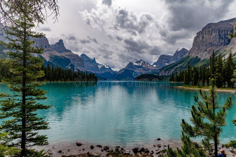 Lago Maligne, Canada fotografie stock libere da diritti