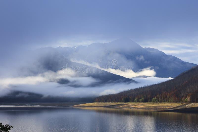 Lago Maligne nel Canada immagine stock libera da diritti