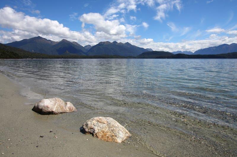 Lago Manapouri imagen de archivo