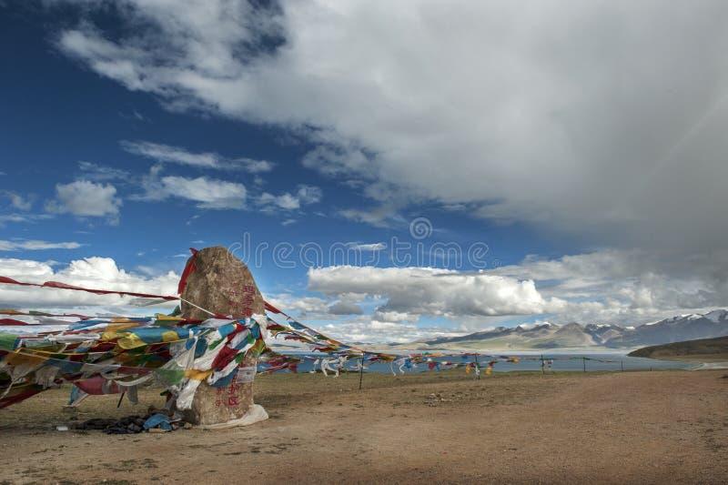 Lago Manasarovar imagen de archivo libre de regalías