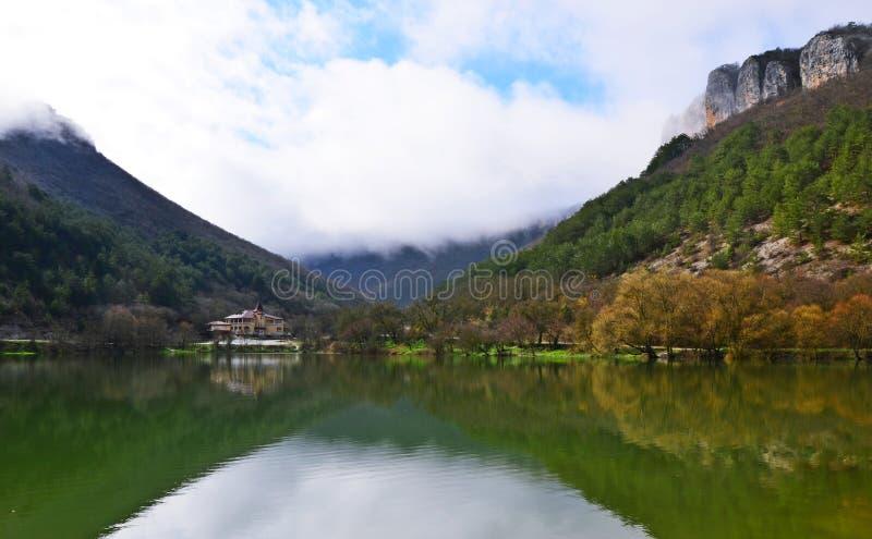 Lago Mangoup imágenes de archivo libres de regalías
