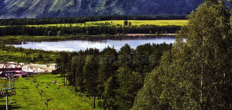 Lago Manzherok fotos de stock royalty free