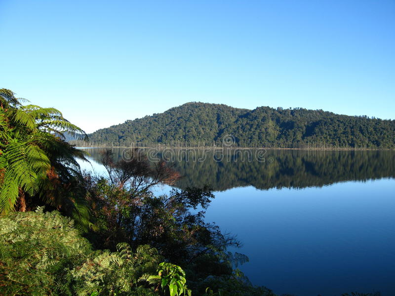 Lago Mapourika, Nova Zelândia foto de stock royalty free