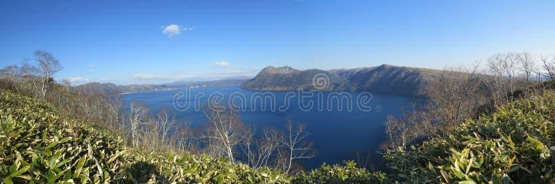 Lago Mashu, Hokkaido, Japón imagenes de archivo