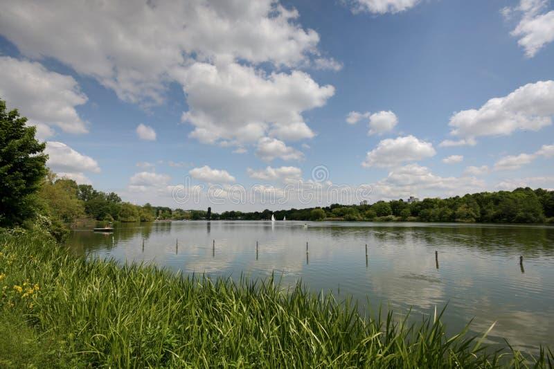 Lago massimo-Eyth Stuttgart/Germania fotografia stock