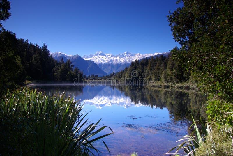 Lago Matheson fotos de archivo
