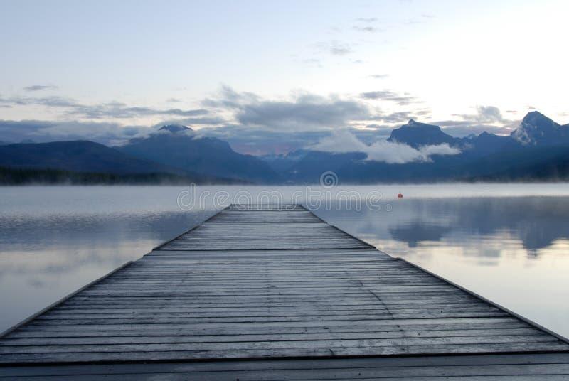 Lago McDonald e doca imagem de stock royalty free