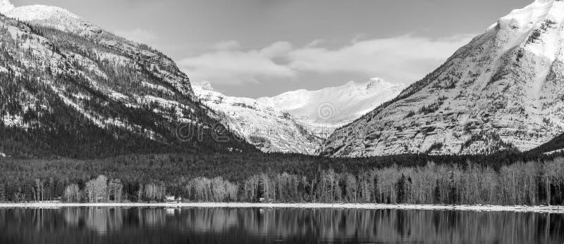 Lago McDonald park nacional de geleira imagem de stock
